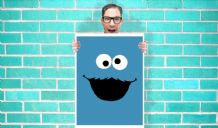 Blue Cookie Monster Sesame Street Art - Wall Art Print / Poster   - Kids Children Bedroom Geekery